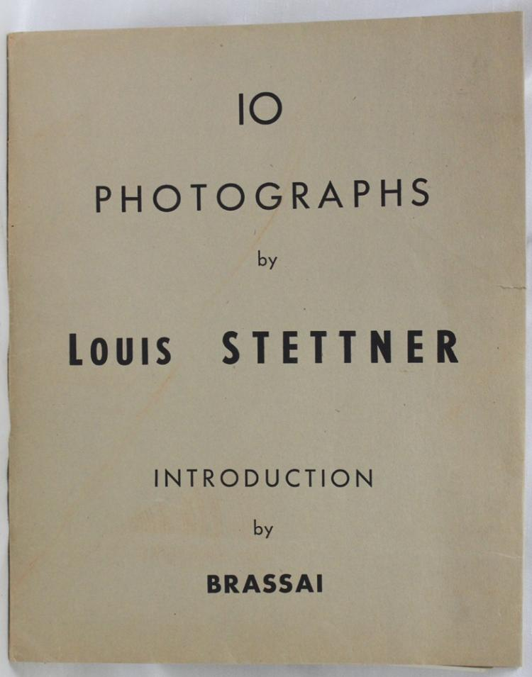 10 Photographs By Louis Stettner, Introduction by Brassa•. Paris, New York, 1949. Folio Sheets