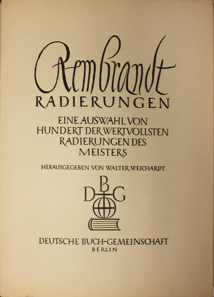 Rembrandt Radierungen Portfolio
