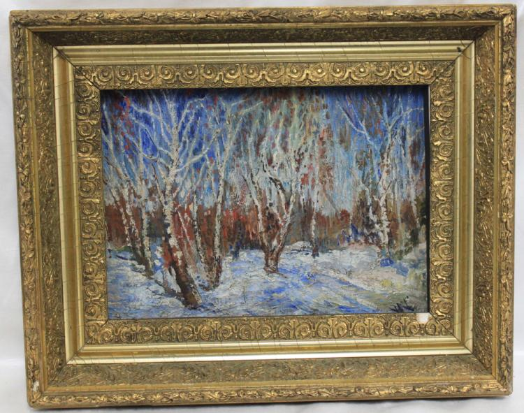Russian Oil on Board Painting Attributed to Igor E. Grabar
