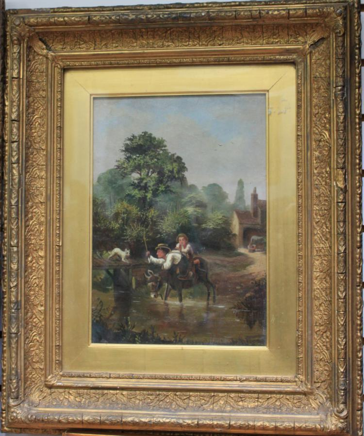 Oil on Canvas, by the English artist L. Lewis, circa 1879