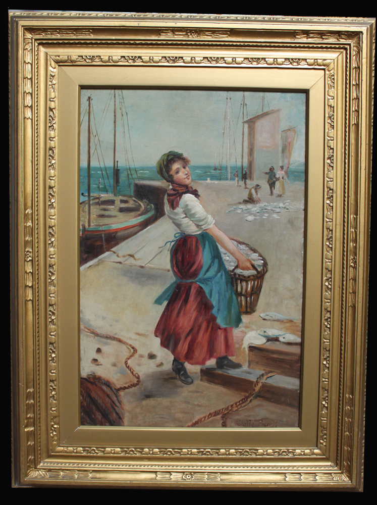 Oil on Canvas Painting by the British artist, Henry Childe Pocock (1845-1934), Signed and Framed
