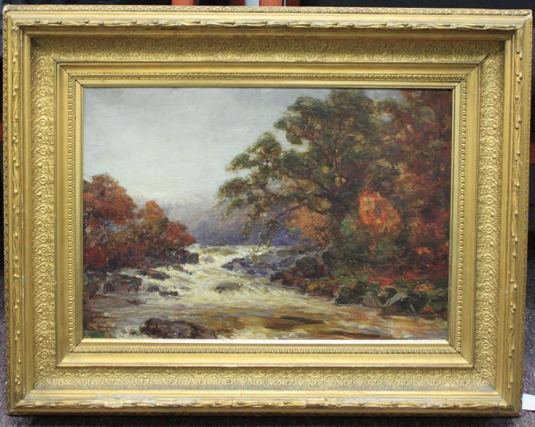 Late 19th Century English, Oil on Canvas Painting Alexander Brownlie Docharty (1866-1941)