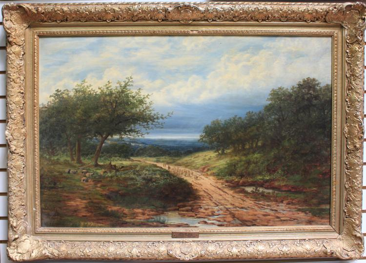 19 Century French Oil Painting by Jean Charles Cazin, 1841-1901, Signed