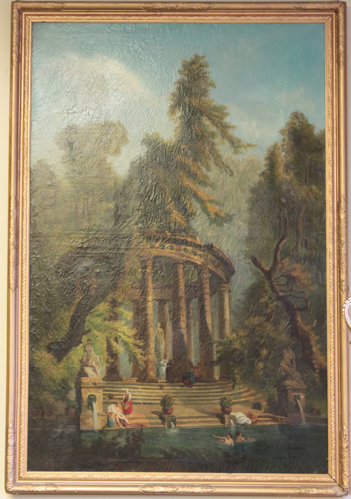 19th Century Oil on Canvas Painting in The Style of Hubert Robert