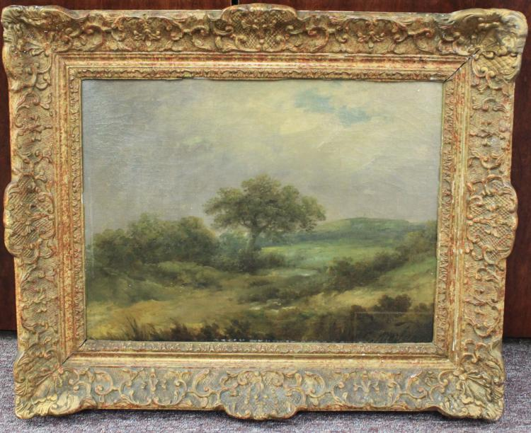 19 Century Oil on Canvas English Landscape Painting by George Morland, Signed