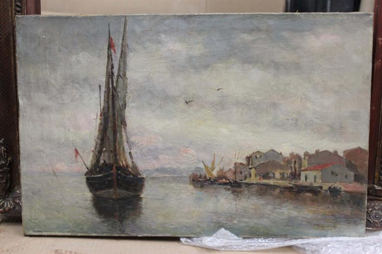 19 Century Oil on Canvas Italian Painting Signed P Fragiacomo