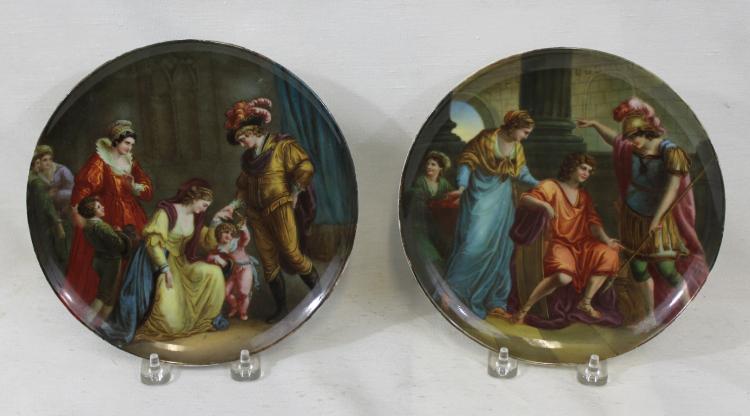 Pair of 19th Century Porcelain Vienna Plates