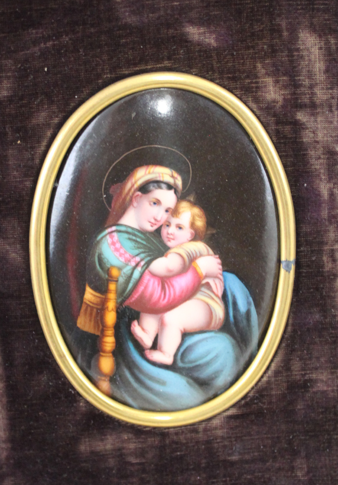 19 Century Hand Painted Continental Painted Porcelain Plaque