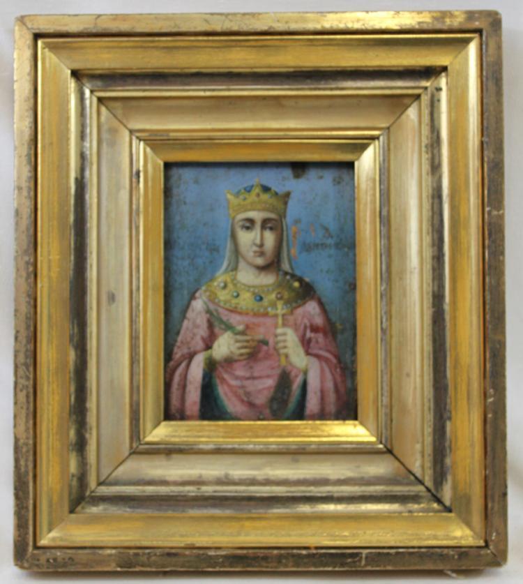 Late 18 Early 19 Century Oil on Panel Italian Painting of Saint