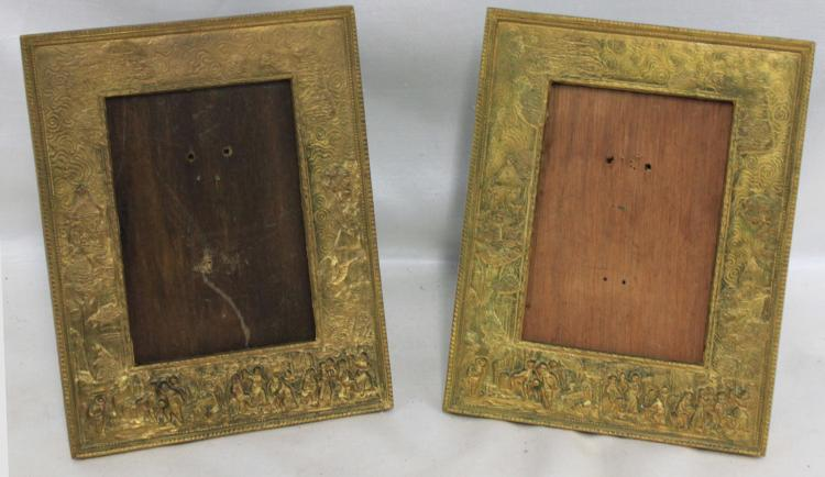 Pair 19th Century French Bronze Frames