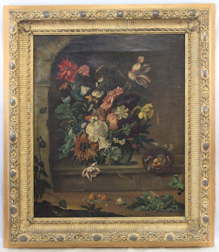 Flemish School, 17th Century Style Oil On Canvas Painting