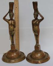 Pair Adam and Eve German Candlesticks