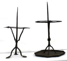 Two Very Similar Iron Gothic Pricket Candlestick