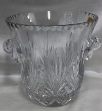 Cut Glass Clear Ice Bucket