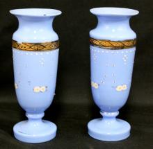 Pairs of Opalien Glass Vase, early 20th century