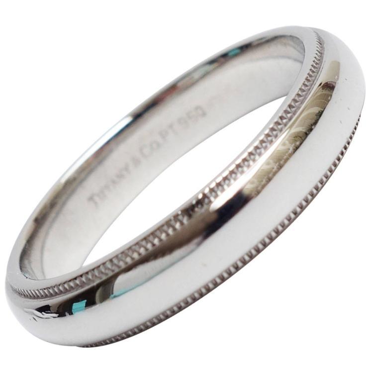 9a1eaeac5 Tiffany & Co. Platinum Milgrain Wedding Band Ring