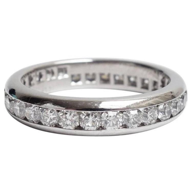 Lucida Bands: Tiffany & Co. Lucida Diamond Platinum Eternity Band Ring