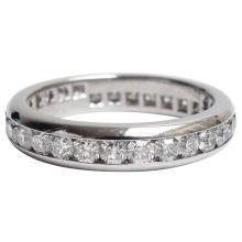 Tiffany & Co. Lucida Diamond Platinum Eternity Band Ring