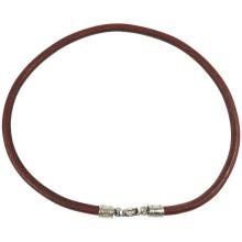 Bulgari Burgundy Leather Cord Necklace