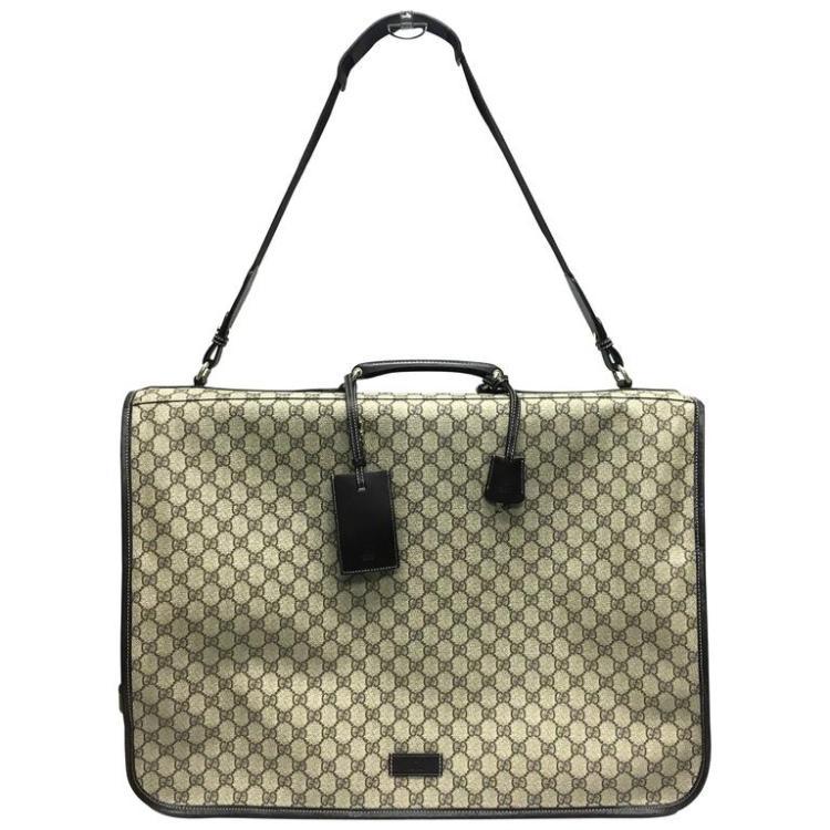 36e3e5b96623 Gucci Brown Gg Supreme Canvas Garment Bag