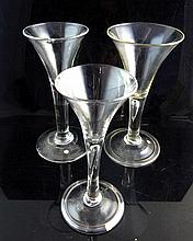 18th century conical wine glass with tear drop stem, 16.5 cm h, a similar s