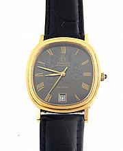 Vintage Omega DeVille wristwatch, the black dial with Roman numerals, subsi