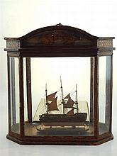 An early 19th century Napoleonic ship model of an eighty two gun three deck