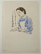 Vanessa Bell, British School, Bloomsbury set, 1879-1961, 'Tommy's Nurse', l