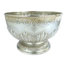 Antique Victorian Sterling Silver punch bowl
