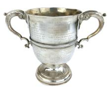 Antique George II Irish Sterling Silver twin handled cup