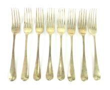 Eight Antique Victorian Sterling Silver dinner forks