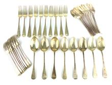 A mixed lot of Antique Victorian Sterling Silver flatware