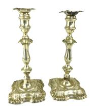 Pair of Antique Edwardian Sterling Silver candlesticks