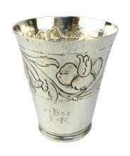 Antique James II Sterling Silver beaker / cup