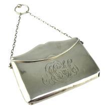 Antique George V Sterling Silver purse / card case