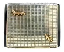 An antique Continental Silver cigarette case / box