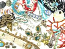 A large, miscellaneous collection of costume jewellery