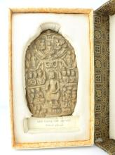 An early 19th C South East Asian relief votive plaque probably Laos (in sil