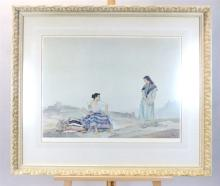 After Sir William Russell Flint RA, 1880-1969, study of Spanish women, 'Rep