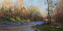 Fading Light on the Tohickon by Kenn Backhaus, OPAM, AISM, PAPA, CAC