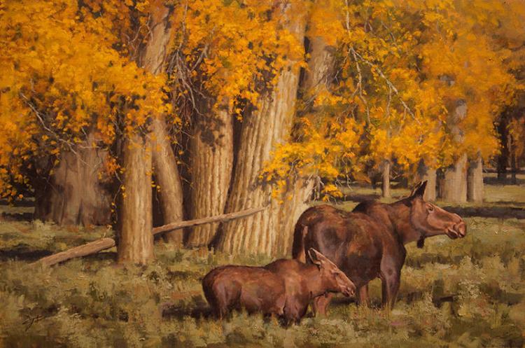 Among the Cottonwoods by Jason Tako, SAA