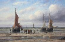 Old Dutch Fishing Boats by Simon Balyon