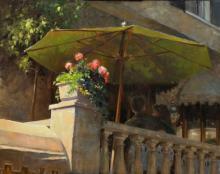Under the Umbrella at the Bernards Inn by Susan Blackwood, OPA & AIS