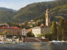 Approaching Cernobbio, Lake Como, Italy by Howard Friedland, OPA & AIS