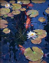 Blossoms on the Koi Pond by Kenn Backhaus, OPAM, AISM, CAC, PAPA