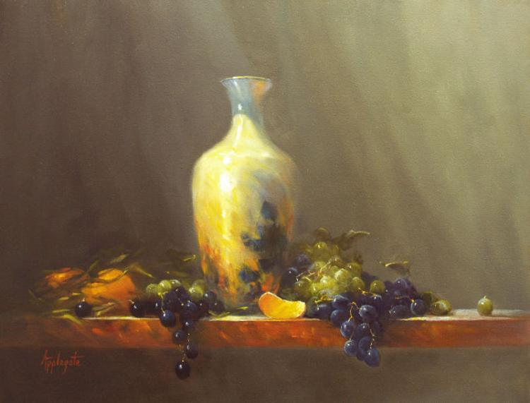 Spilling Grapes by Barbara Applegate