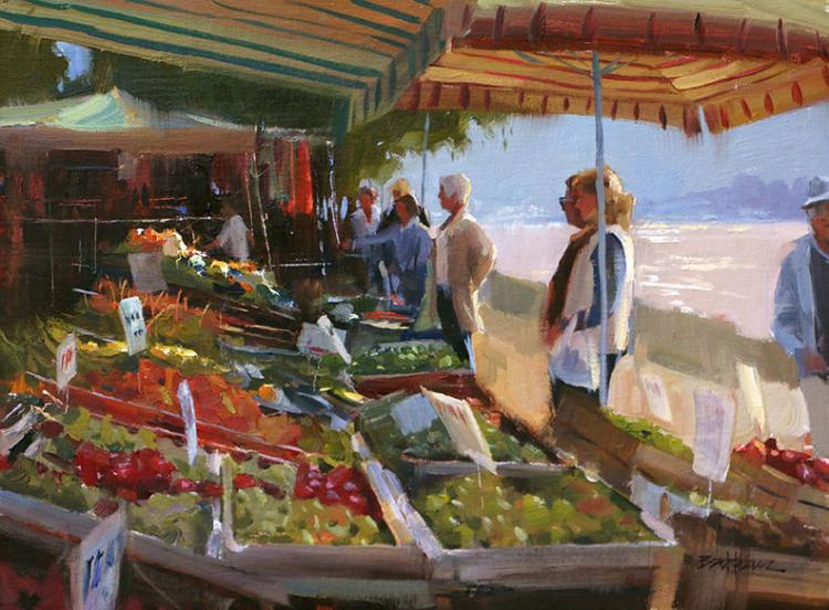 Good Day at the Market by Kenn Backhaus, OPAM, AISM, CAC, PAPA