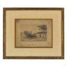 L. Eilshemius (1864-1941) Landscape Pencil Drawing