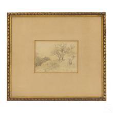 L. Eilshemius 1864-1941 Landscape Pencil Drawing