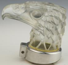 R. LALIQUE Tete d'Aigle Eagle Automobile Hood Ornament Car Mascot